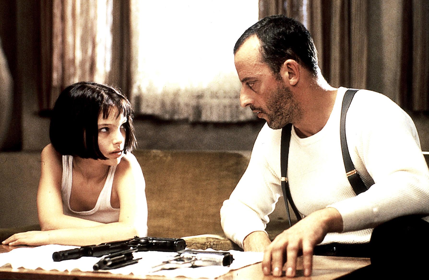 Leon filminde Natalie Portman ve Jean Reno