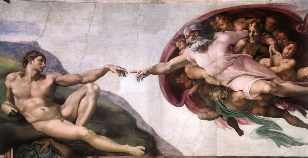 Michelangelo Ademin yaradılışı