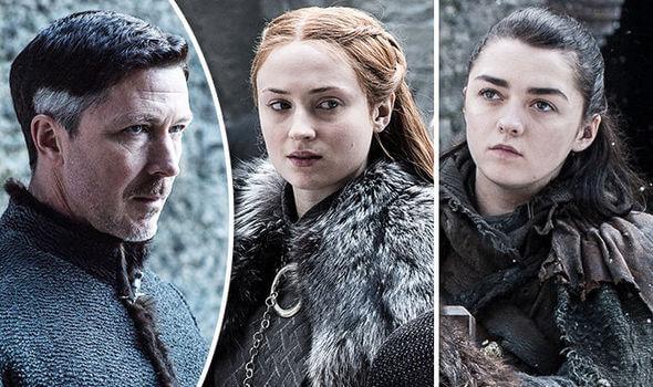 Littlefinger Arya Sansa Stark Game of Thrones