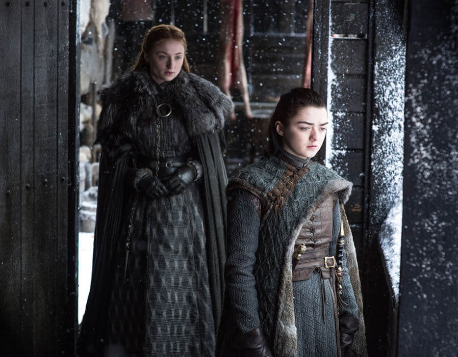 Arya Sansa Stark Game of Thrones
