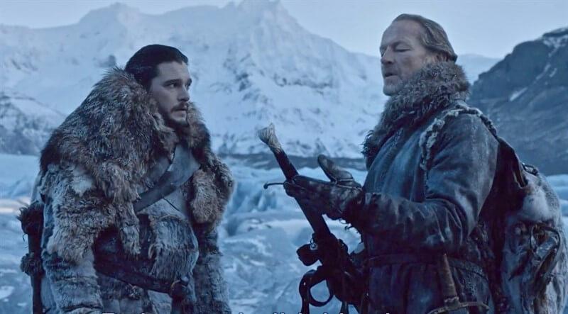 Jon Snow Jorah Mormont Game of Thrones