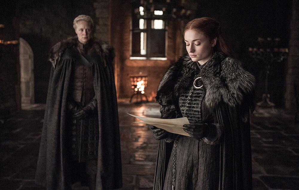 Sansa Stark Brienne of Tarth Game of Thrones