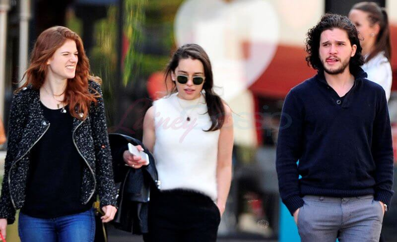 Rose Leslie Emilia Clarke Kit Harington