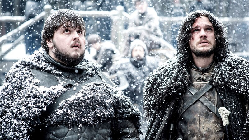 Jon Snow Samwell Tarly Game of Thrones