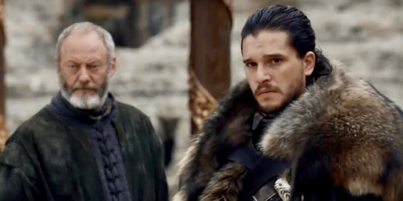 Game of Thrones Jon Snow Davos Seaworth