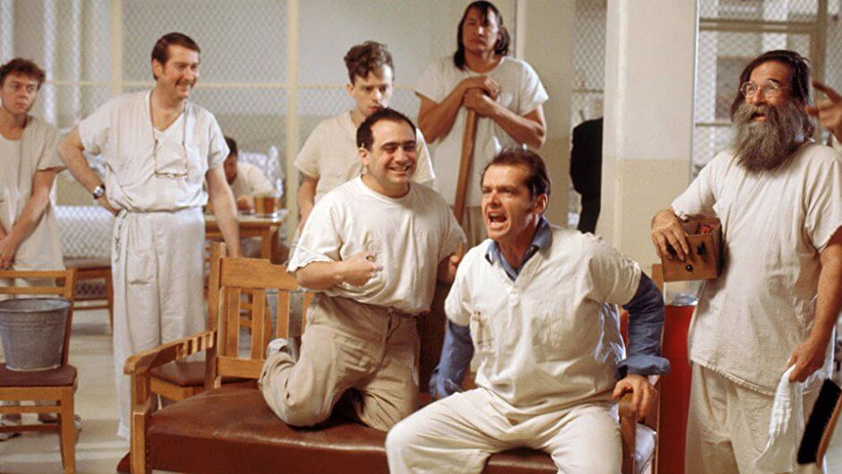 Guguk Kuşu One Flew Over the Cuckoo's Nest Jack Nicholson Dany DeVito Christopher Lloyd