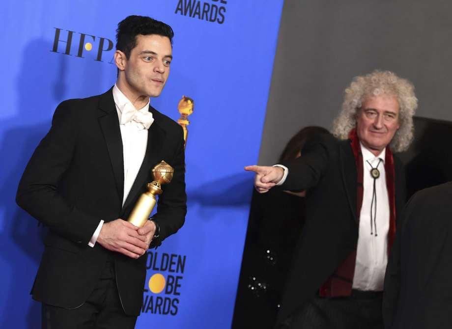 Rami Malek Brian May Altın Küre Bohemian Rhapsody