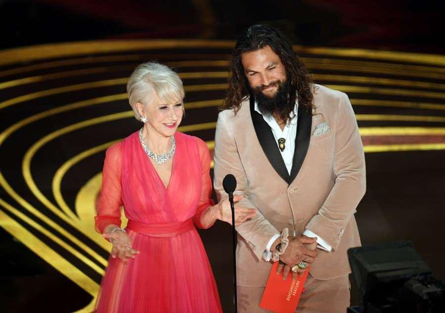 Jason Momoa Helen Mirren Oscar
