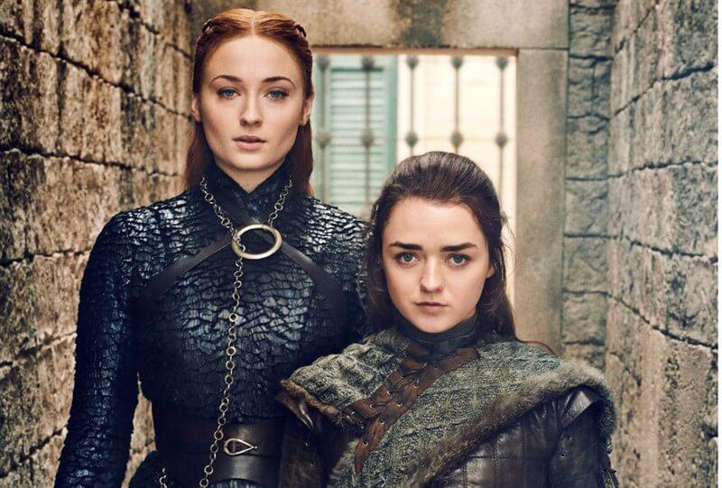 Game of Thrones Sansa Arya Stark Sophie Turner Maisie Williams