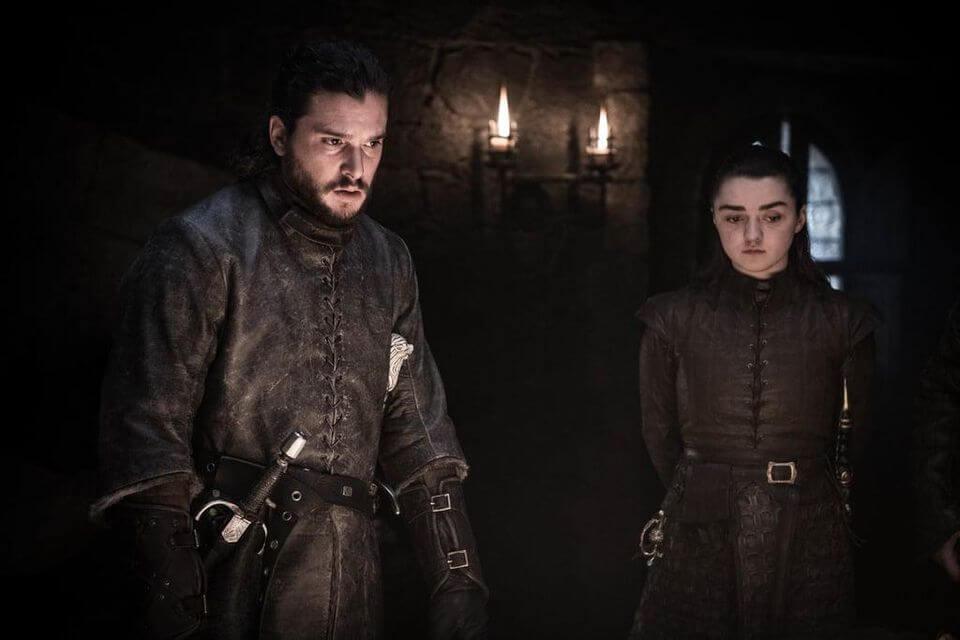 Game of Thrones Jon Snow Arya Stark Kit Harington Maisie Williams