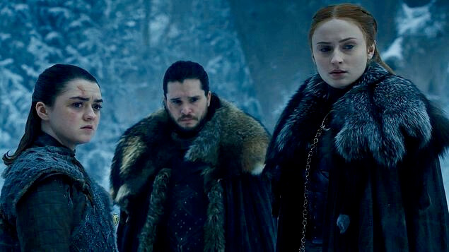 Arya Sansa Stark Jon Snow Game of Thrones