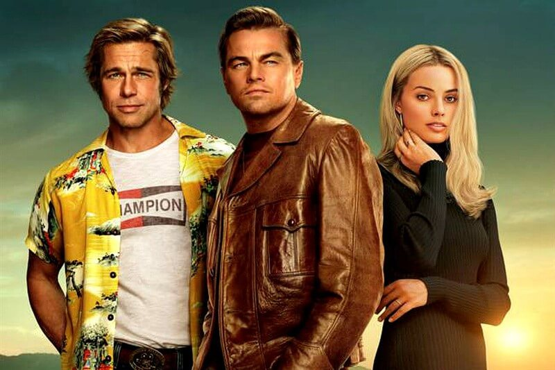 Once Upon a Time in Hollywood Brad Pitt Margot Robbie Leonardo DiCaprio