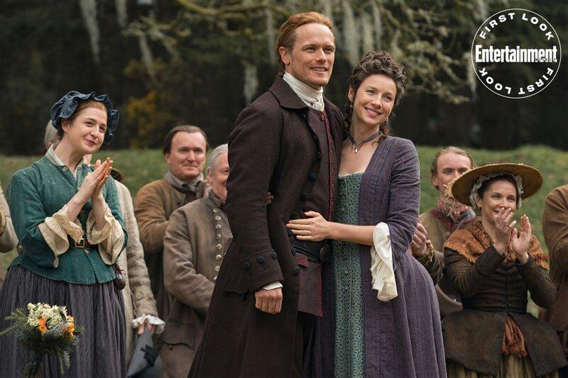 Outlander Sam Heughan and Caitriona Balfe