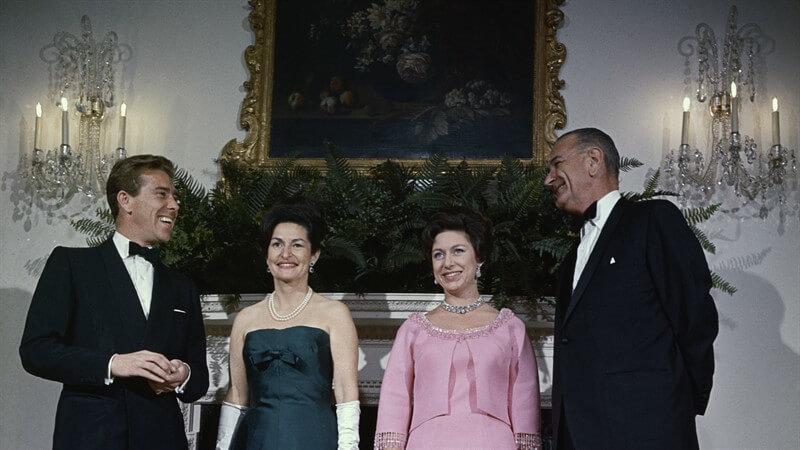 Prenses Margaret Lyndon B. Johnson Anthony Snowdon Leydi Bird Johnson