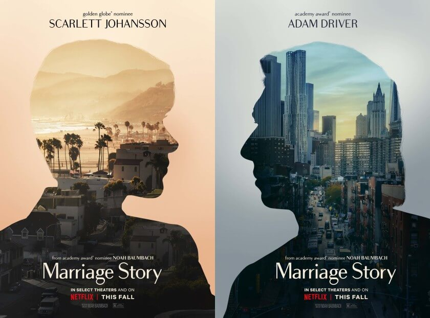 Marriage Story Scarlett Johansson Adam Driver