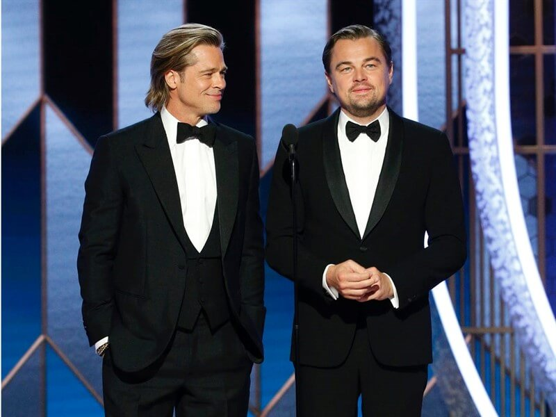 Golden Globe 2020 Leonardo DiCaprio Brad Pitt